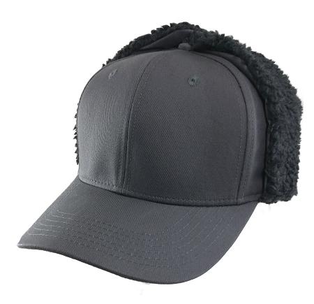 2xl Gray Earflap Baseball Cap