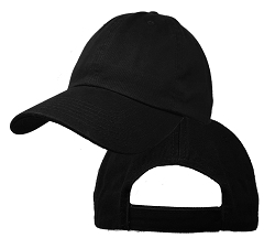 Big Size Black Low Profile Cap