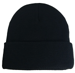 Big Black Knit Cap