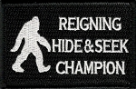 Tactical Big Foot Hide and Seek Champion Velcro Patch