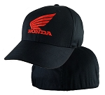 Honda® Red Powersport 4XL Black FlexFit® Cap