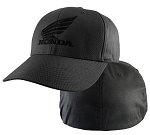 Honda® Black Powersport 4XL Dark Gray FlexFit® Cap