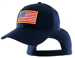American Flag On Big Head Cap