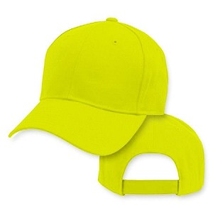 Big Size Safety Neon Yellow Adjustable Cap