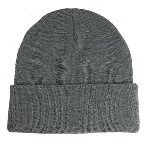 Big Supersized Gray Knit Cap