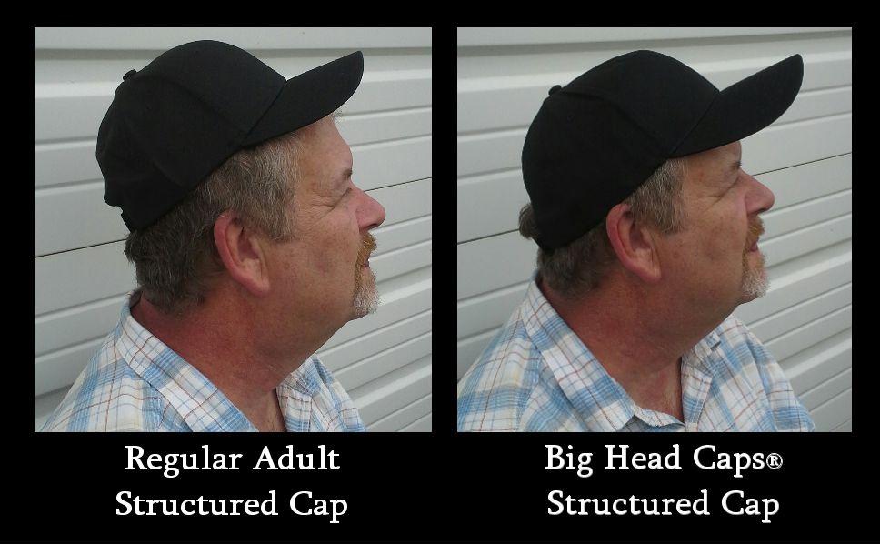 Big Size Structured BaseBall Caps 9c59f0d2cc2