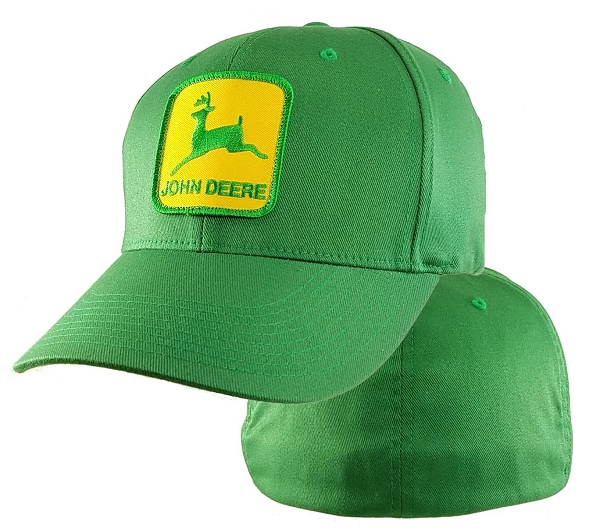 Big John Deere Logo on 4XL Green FlexFit® bc9eb625929