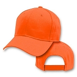 Big Size Blaze Orange Adjustable Cap