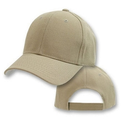 Big Size Khaki Adjustable Cap
