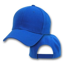 Big Size Royal Blue Adjustable Cap