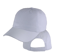 Big Size White Low Profile Cap