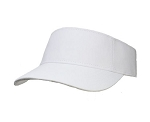 Big Size White Adjustable Visor