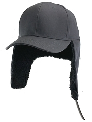2XL Gray Ear Flap Baseball Cap