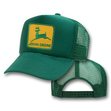 71f391fe083 Big John Deere Logo On Green Mesh Cap