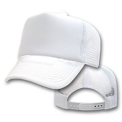 Big White Mesh Cap