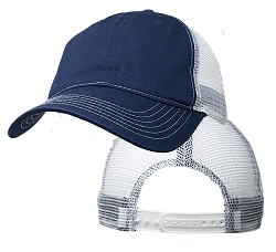 Big Size Navy/White Low Profile Mesh Cap