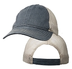 Big Size Vintage Gray/Khaki Low Profile Mesh Cap