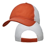Big Size Orange/White Low Profile Mesh Cap