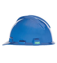 Big Size MSA V-Gard Blue Hard Hat Ratchet Suspension