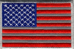 Reflective American Flag Patch