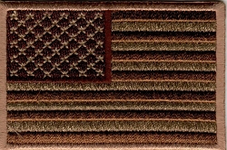 Subdued Brown US Flag Patch