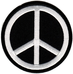 Embroidered Peace Sign Patch