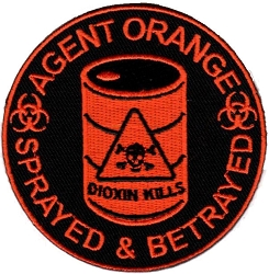 Embroidered Agent Orange Patch