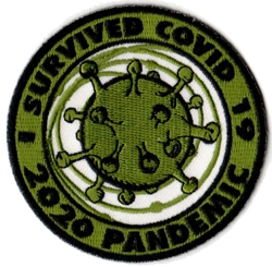 Embroidered Survived Covid 19 Patch