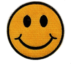 Embroidered Smiley Face Patch