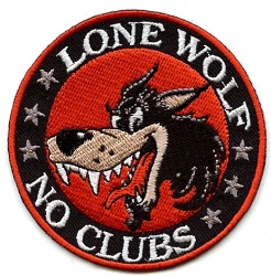 Lone Wolf  No Club Patch