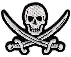 Pirate Skull with Crossed Swords Emblem