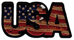 Embroidered Vintage USA Patch