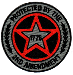 Embroidered Protected by 2nd Amendment 1776