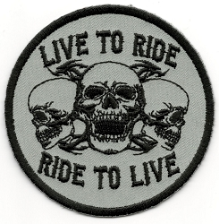 Skulls Live to Ride