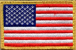 Tactical US Flag with Gold Trim Patch