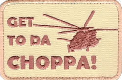 Tactical Get To Da Choppa Pedator Patch