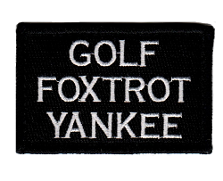 Tactical Golf Foxtrot Yankee Black/White Patch