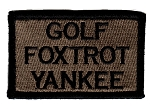 Tactical Golf Foxtrot Yankee Coyote/Black Patch