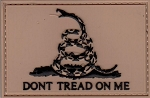 PVC Tactical 3D Gadsden Flag Coyote/Black Patch