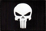 PVC Tactical hook & loop Punisher Patch