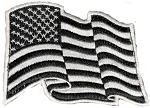 Tactical American Wavy Black & White Flag hook & loop Patch
