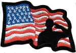 Tactical Wavy Flag with Salute Patch