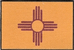 Tactical hook & loop New Mexico Flag Printed Patch