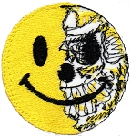 Tactical Torn Smiley Face Patch