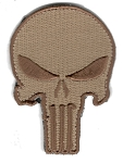 Tactical Punisher Skull Khaki Patch