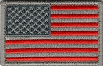 Tactical hook & loop Silver US Flag Patch