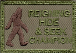 Tactical Hide/Seek Champion Khaki/Green Patch