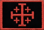 Tactical Crusade Cross Red on Black