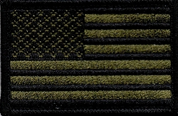 Tactical US Flag Green/Black Patch