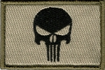 Tactical Punisher Skull On Olive Patch